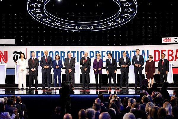 حمله علیه سیاست خارجی ترامپ درشب داغ رقابت انتخاباتی دموکرات ها