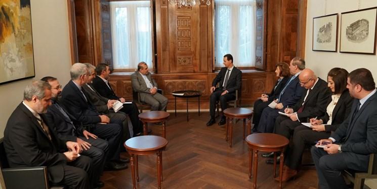 ملاقات و گفت وگوی دستیار ارشد ظریف با بشار الاسد